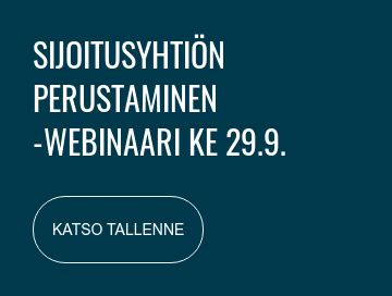 Sijoitusyhtiön perustaminen  -WEBINAARI ke 29.9. klo 17  REKISTERÖIDY