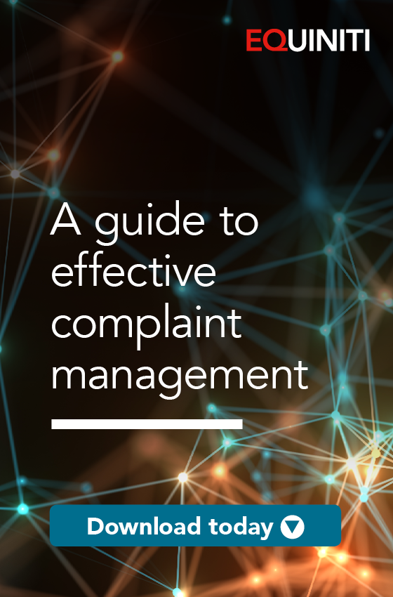 Managing complaints effectively