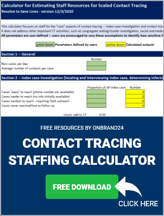 Contact Tracing Staffing Calculator