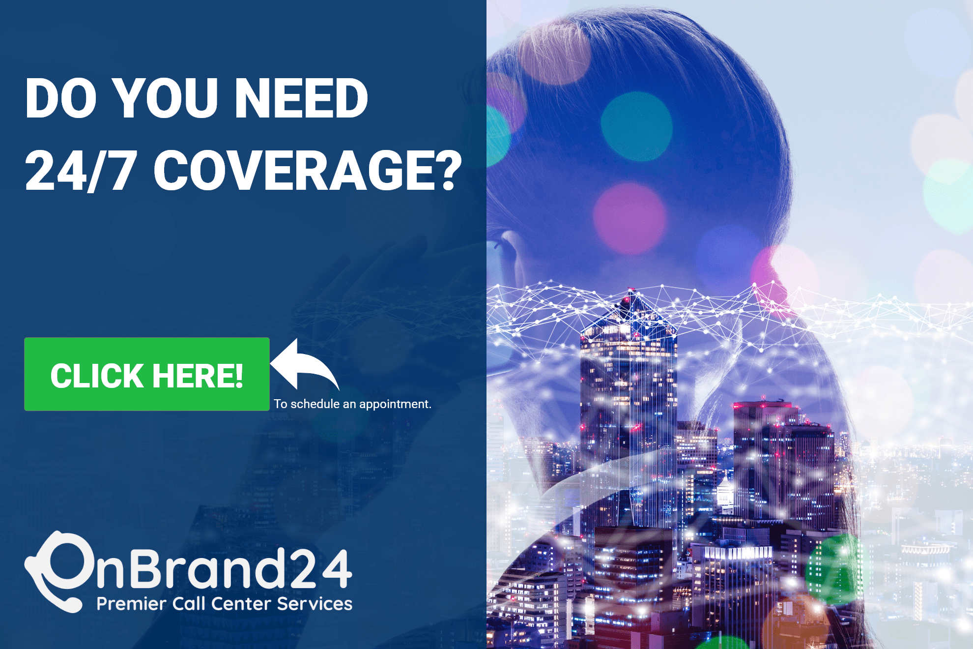 24/7 Call Center Service Coverage with OnBrand24 Premier Call Center Services