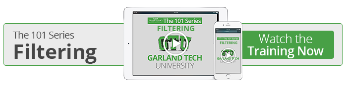 Watch the 101 on Filtering now!