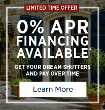 0% APR shutter financing offer