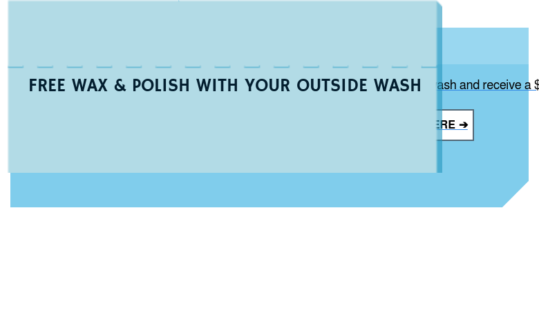 50% OFF AN OUTSIDE WASH THERE'S NOTHING LIKE A CLEAN FROM OUR GLEAM TEAM  Judge a book by it's cover? We'll give you all the shine for half the price at  your nearest Magic. GET YOUR 50% OFF COUPON HERE ➔