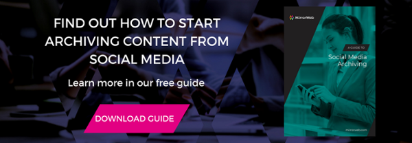 Find out how to start archiving content from social media