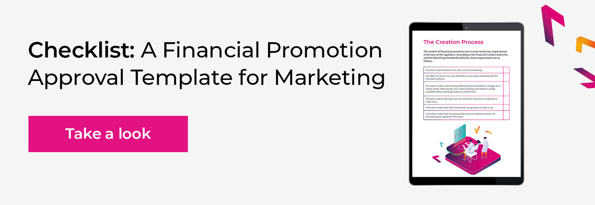 Checklist: A Financial Promotion Approval Template for Marketing