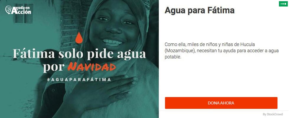 Ayuda a Fátima a construir un pozo de agua