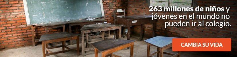 263 millones de niños y jóvenes en el mundo no pueden ir al colegio.