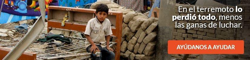 En el terremoto lo perdió todo, menos las ganas de luchar.