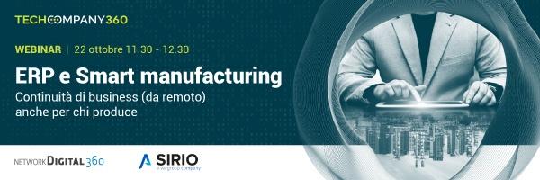 Webinar 22.10.20 - ERP e Smart Manufacturing: continuità di business (da remoto) anche per chi produce