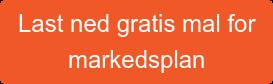 Last ned gratis mal for markedsplan