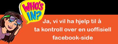 Ja, vi vil ha hjelp til å ta kontroll over en uoffisiell facebook-side