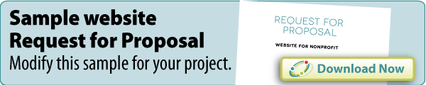 Sample nonprofit website request for proposal