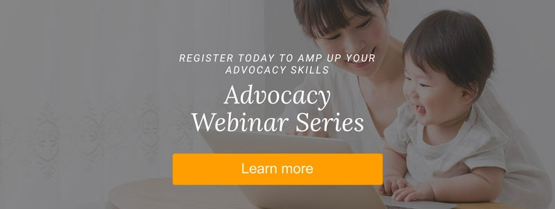 Learn more about the advocacy webinar series