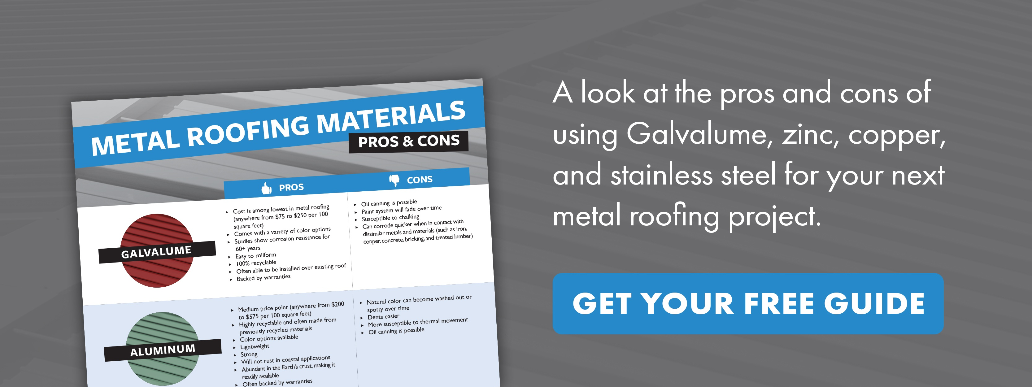 Metal Roofing Materials Pros & Cons Guide - Embed