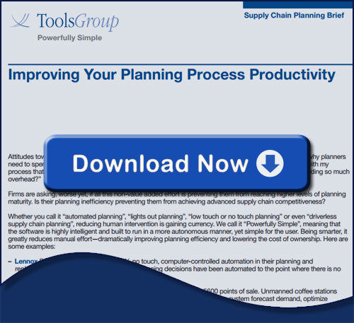 Improve your planning process productivity - Supply Chain Planning Brief