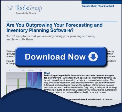 Are You Outgrowing Your Forecasting and Inventory Planning Software | Supply Chain Planning Brief