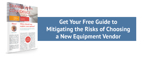 Get Your Free Guide to Mitigating the Risks of Choosing a New Equipment Vendor