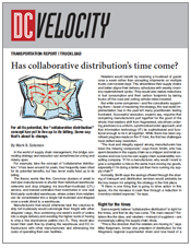 Has Collaborative Distribution's Time Come?