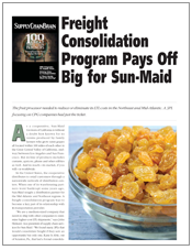 Freight Consolidation Program Pays Off Big for Sun-Maid