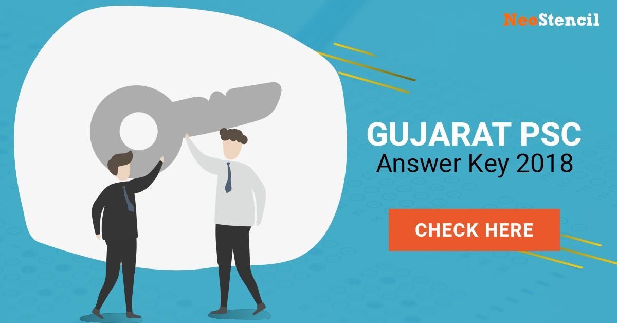 GPSC Answer Key 2018