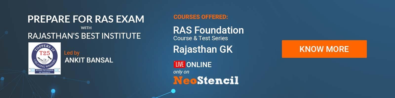 RAS Online Coaching RPSC Toppers25 Ankit Bansal