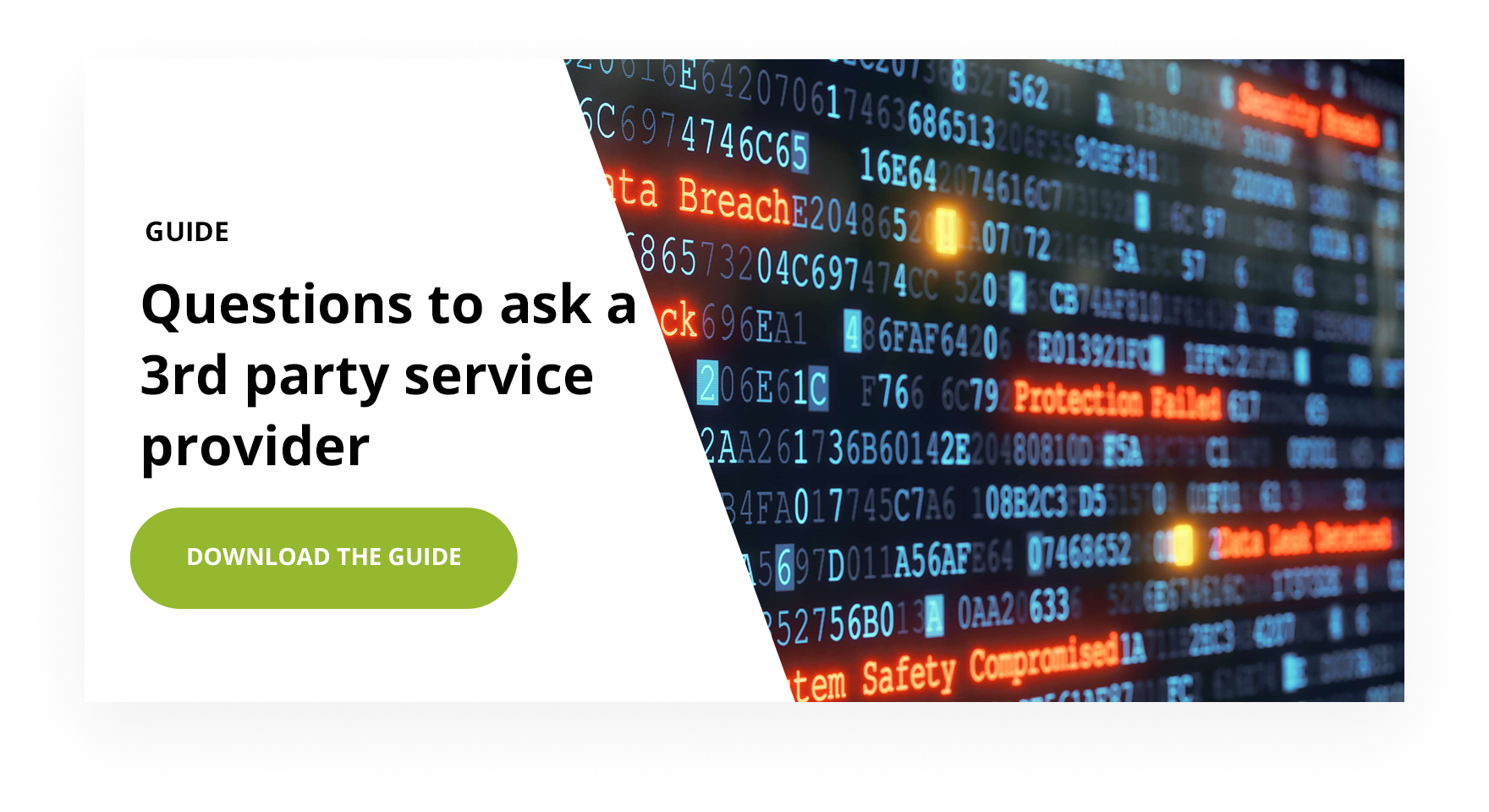 Guide questions to ask a 3rd party service provider