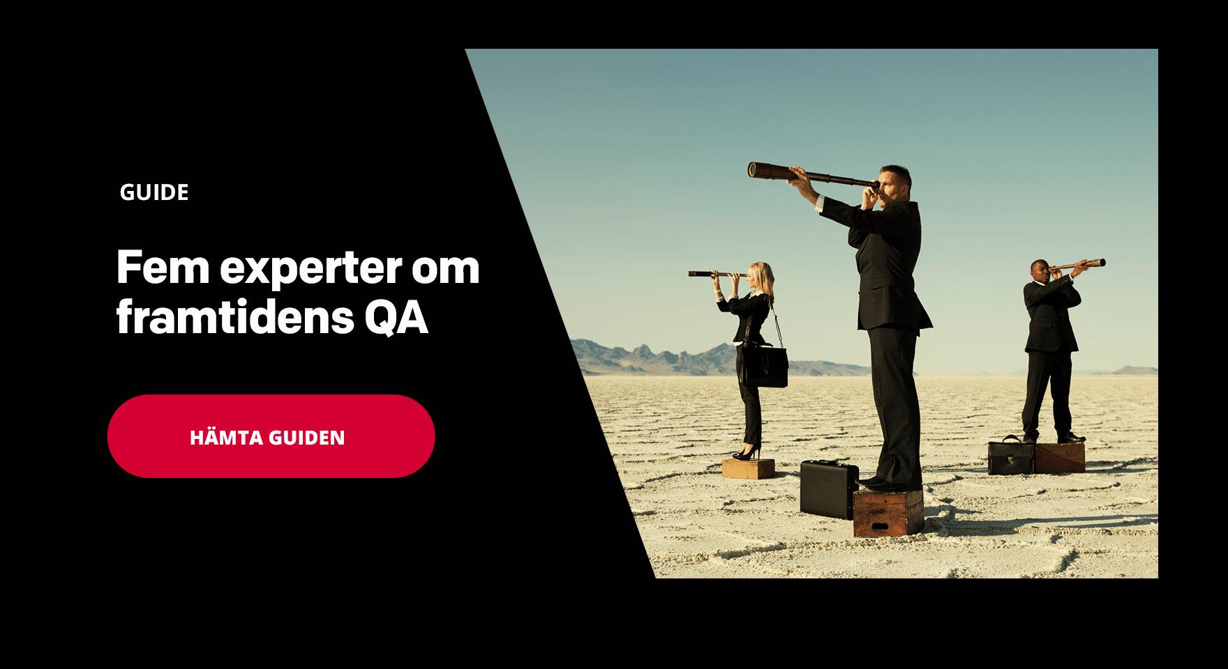 Ladda ner vår e-bok - Den moderna QA Managern