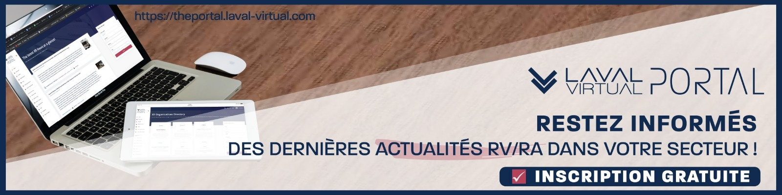 Inscription fil d'actualité VR/AR Laval Virtual