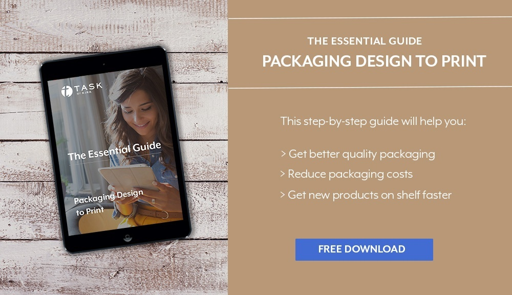 Marketers guide to the Packaging design to print process for food and beverage packaging. Get high quality packaging, reduce packaging costs, and launch products faster.