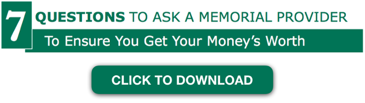 Memorial Cost Question Checklist CTA