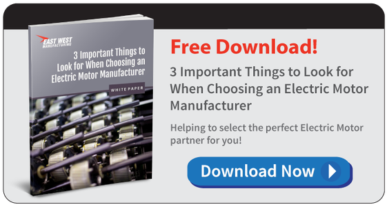 Free White Paper: 3 Important Things to Look for When Choosing an Electric Motor Manufacturer