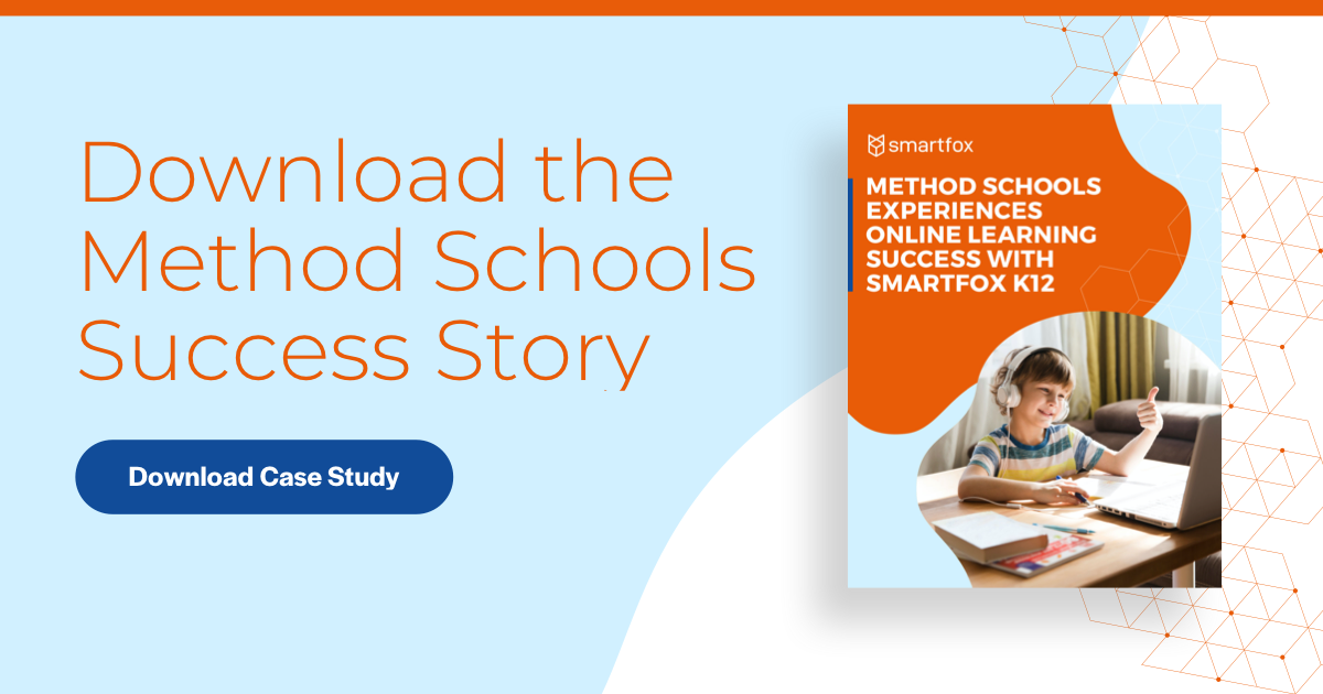 See how one public charter school used SmartFox K12 to master online learning. Download the Method Schools Success Story. Download the case study >>