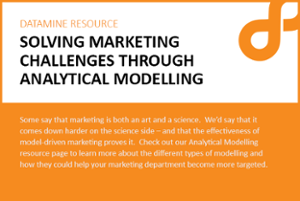 Analytical modelling and marketing cover image