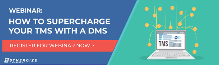 Register Now: Webinar: How to Supercharge Your TMS with a DMS