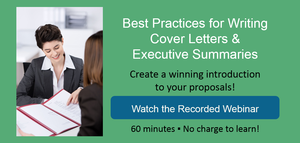 View Best Practices Webinar: Cover Letters & Executive Summaries