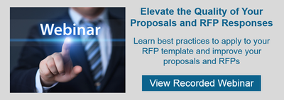 Watch webinar. Elevate Quality of Your Proposals and RFP Responses.