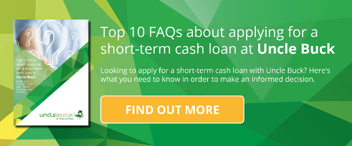 Top 10 FAQs about applying for a short-term cash loan at Uncle Buck