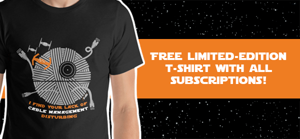 Free limited-edition t-shirts with all subscriptions!