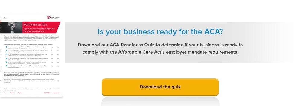 ACA Readiness Quiz