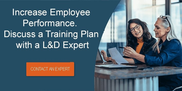 Increase employee performance. Discuss a Training Plan with a L&D Expert