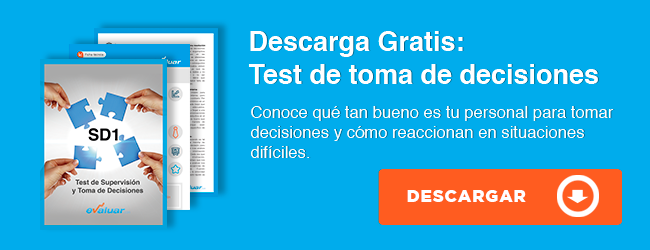 test de supervision y toma de decisiones
