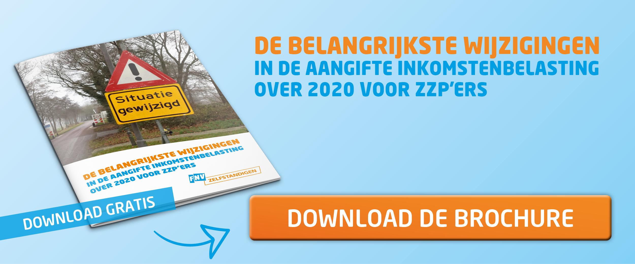 De belangrijkste wijzigingen in de aangifte inkomstenbelasting over 2020 voor zzp'ers