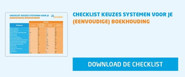 Checklist Boekhoudprogramma