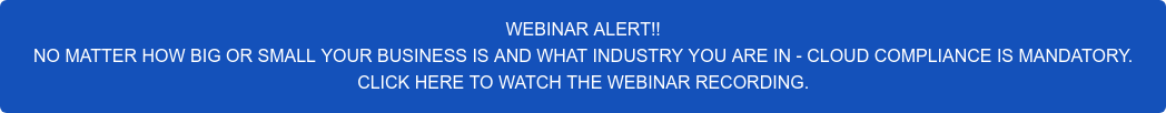 WEBINAR ALERT!! COMPLIANCE SIMPLY CANNOT BE IGNORED.