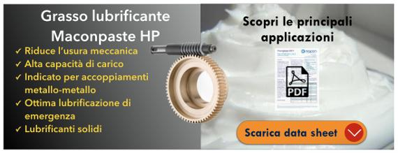 Lubrificante Maconpaste HP contro attrito e usura