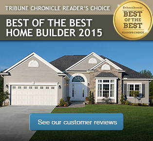 Tribute Chronicle Reader's Choice Best of the Best Home Builder 2015