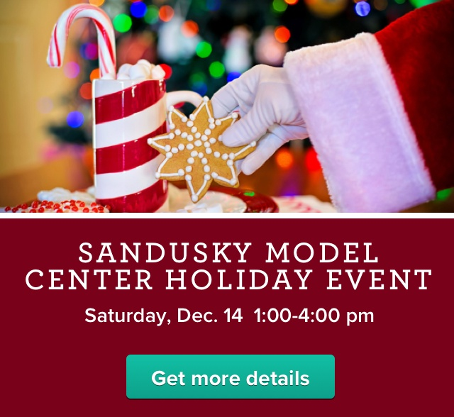 Join us for our Sandusky Model Center Holiday Event on December 14