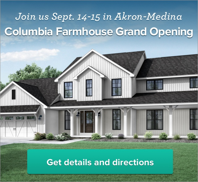 Join us Saturday, September 14 and Sunday, September 15, for the Grand Opening of our newest model at our Akron-Medina Model Center.