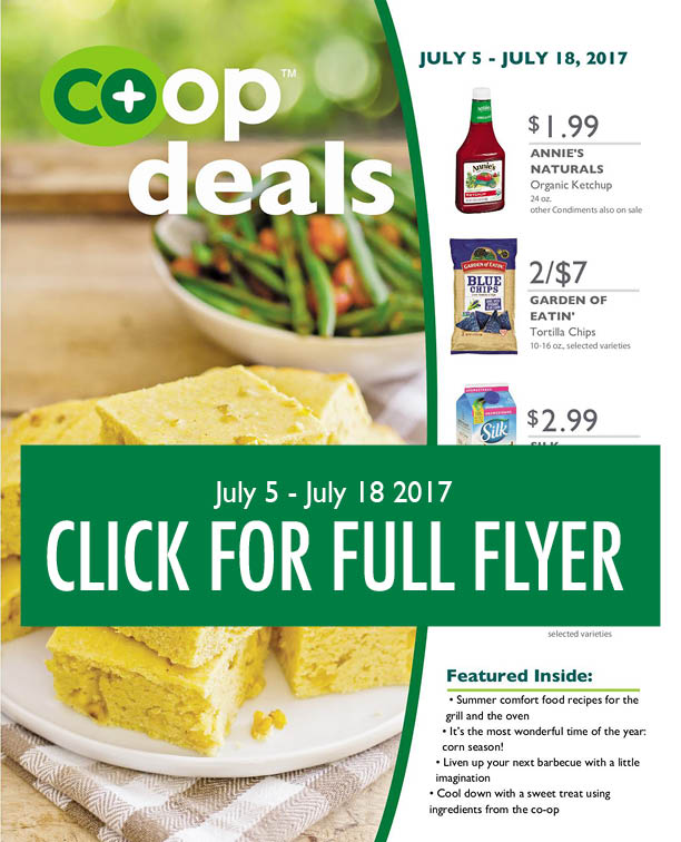 Get the latest Co-op Deals from Tidal Creek!