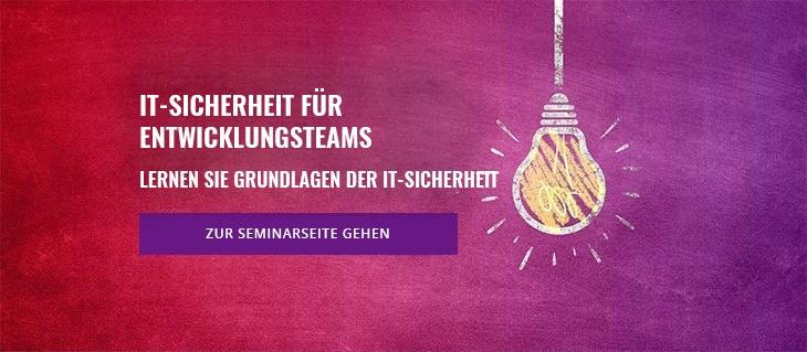 Seminar: IT-Sicherheit für Entwicklungsteams